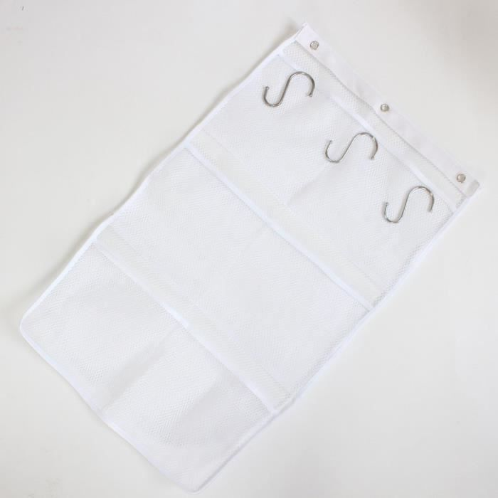 Sac 3 porte à recevoir un sac en filet de crochet S