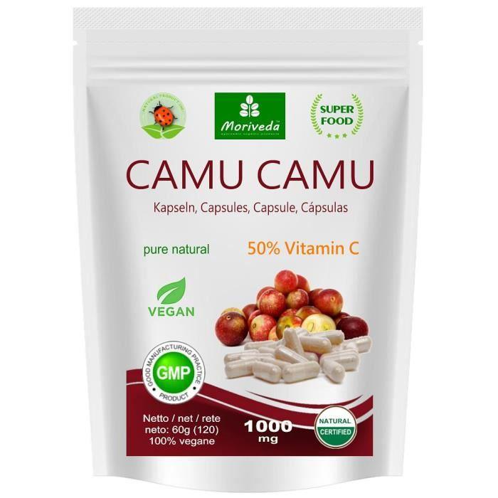 Camu Camu Capsules 8:1 extrait avec 50% de vitamine C naturelle - produit de qualité végétalien (1x120 Capsules)