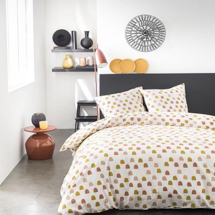 Housse de couette réversible et taie d'oreiller Today 100% coton 4.32 - taille:220 x 240 cm