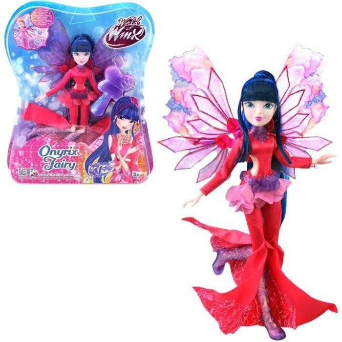Musa - Onyrix Fairy Poupée - Winx Club - World of Winx - Robe Magique - 28 cm