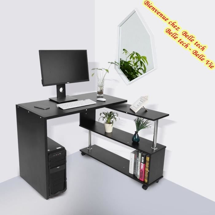 bureau angle informatique. Black Bedroom Furniture Sets. Home Design Ideas