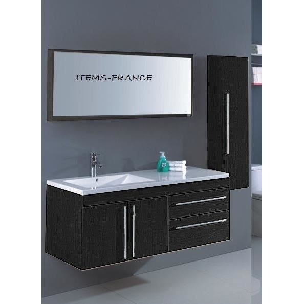 neoma noir meuble salle de bain contemporain achat vente salle de bain complete neoma. Black Bedroom Furniture Sets. Home Design Ideas