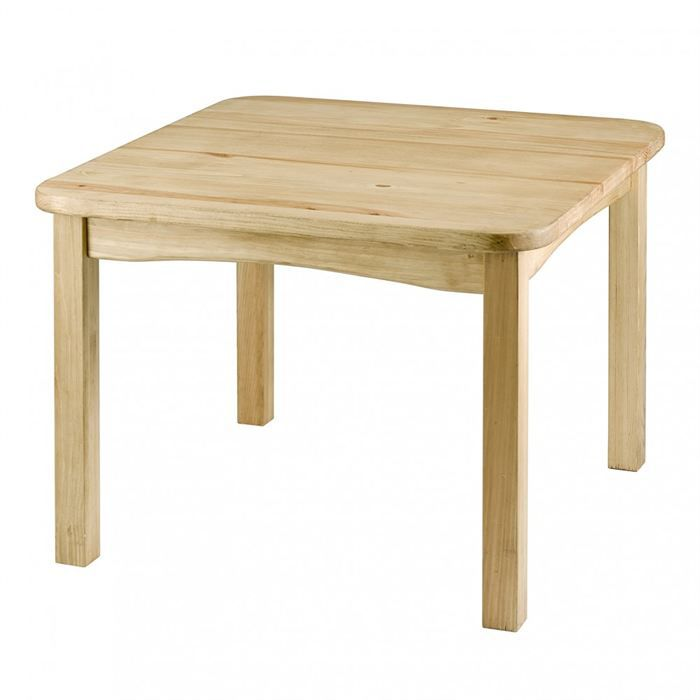 Table enfant bois for Table bois brut