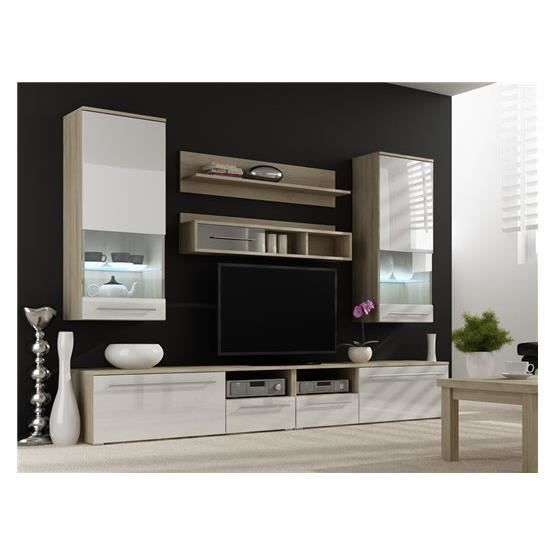 meuble tv mural conforama. Black Bedroom Furniture Sets. Home Design Ideas