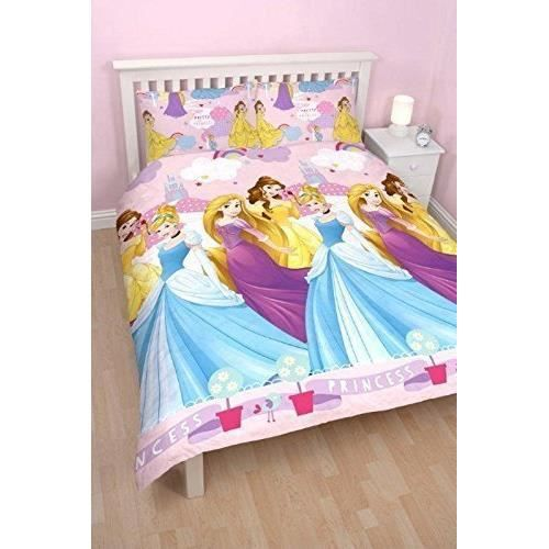 parure de lit double princesse raiponce enchanting disney. Black Bedroom Furniture Sets. Home Design Ideas