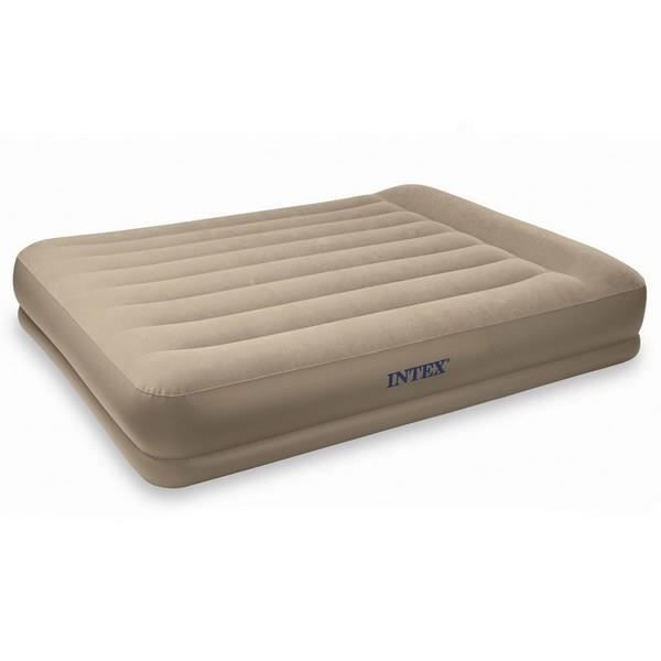 matelas gonfleur int gr intex 2 personnes beige achat vente lit gonflable airbed. Black Bedroom Furniture Sets. Home Design Ideas
