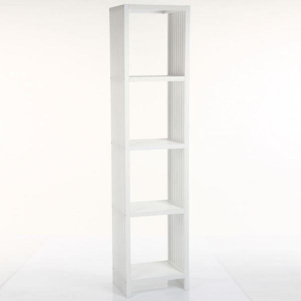 etagere 4 cases de la collection luxe blanc achat. Black Bedroom Furniture Sets. Home Design Ideas