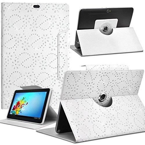 Housse etui diamant universel l blanc pour tablette asus for Housse tablette asus zenpad 10