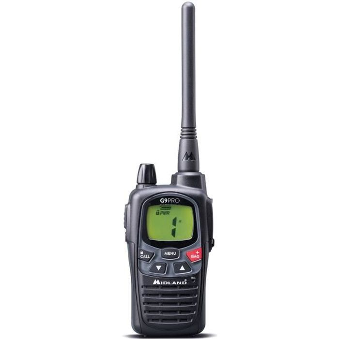TALKIE-WALKIE MIDLAND Talkie-walkie - G9 PRO PMR446/LPD - Noir