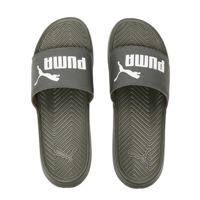 Claquettes kaki Homme Puma - Cdiscount Sport