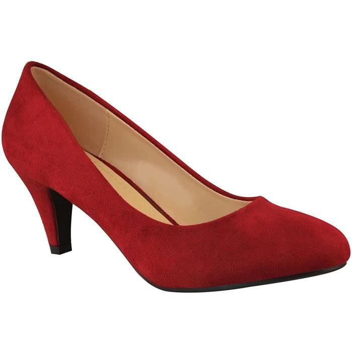 Femmes École Chaussures Filles Confortable Femme Escarpins Plat T-Bar Boucle Travail Bureau Enfants
