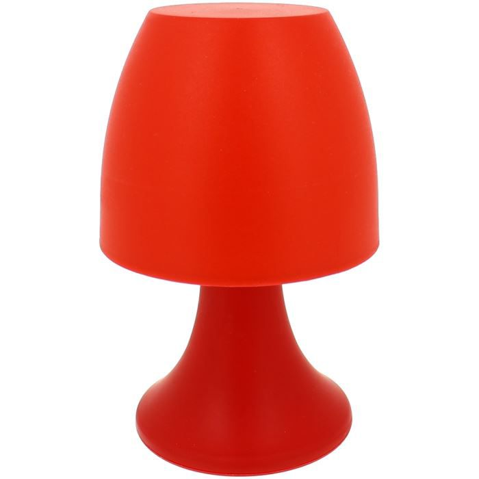 lampe fun champignon veilleuse led fluo city rouge achat vente lampe fun champignon. Black Bedroom Furniture Sets. Home Design Ideas