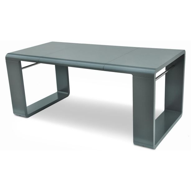 Table extensible laqu e enola gris achat vente table for Table laquee extensible