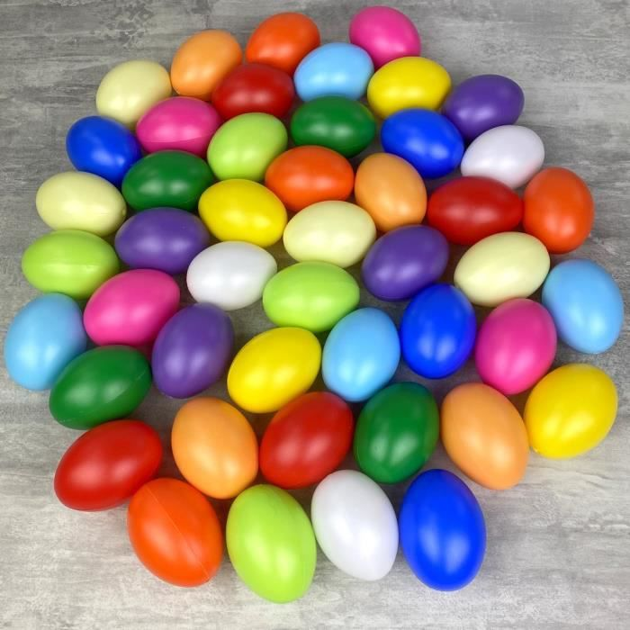 DECO-Oeufs 6 pcs 8 cm plastique mat à l/'extérieur Coloré suspension