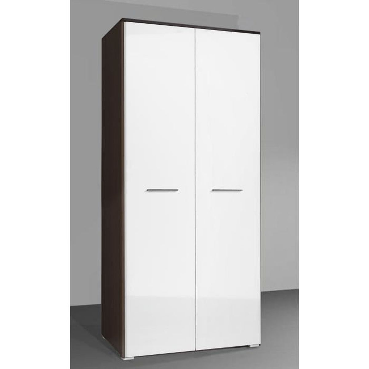armoire design safa bois fonc blanc achat vente armoire de chambre armoire design safa bois. Black Bedroom Furniture Sets. Home Design Ideas