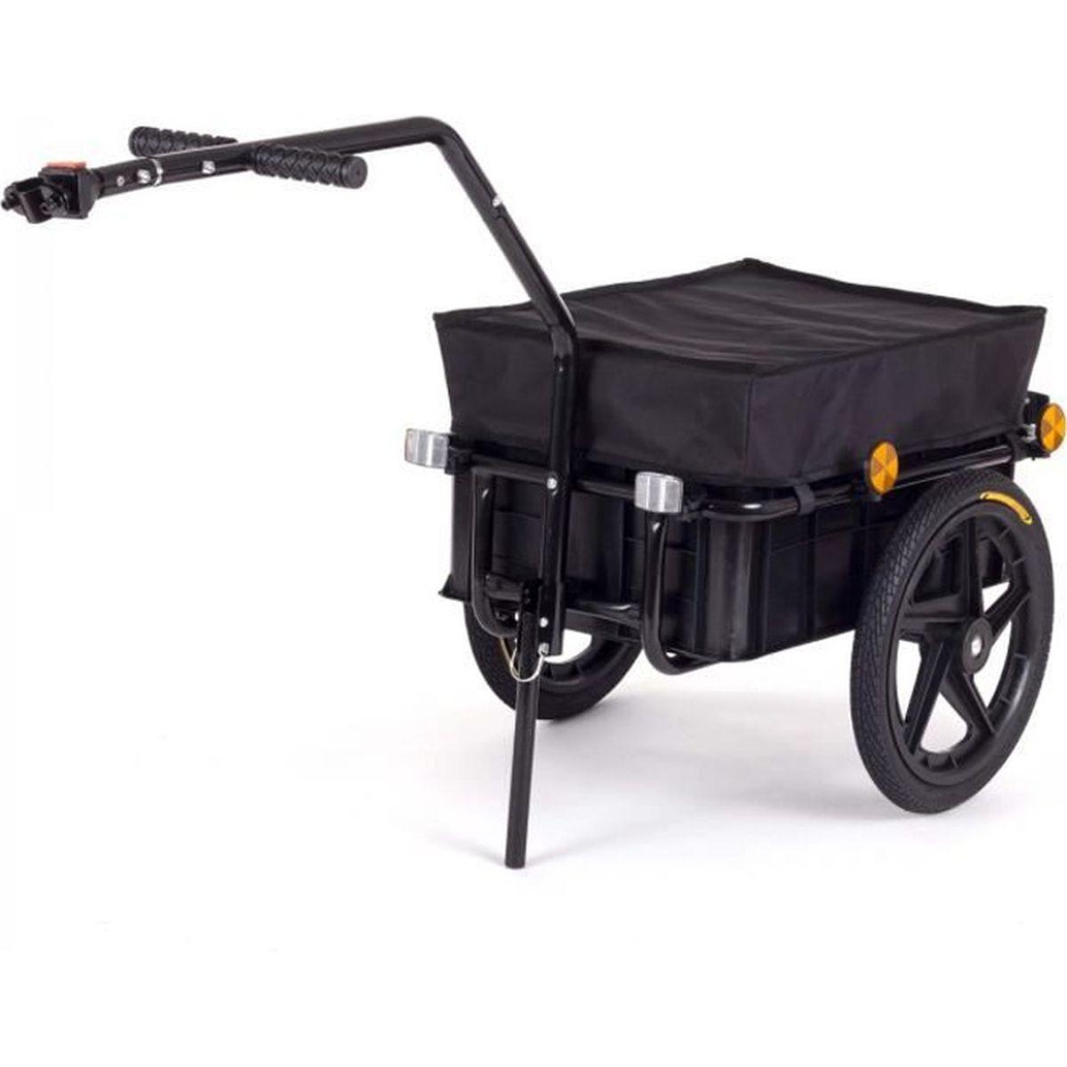 Remorque Vélo Chariot remorque de vélo Boîte De Transport 50 kg Boule d/'attelage
