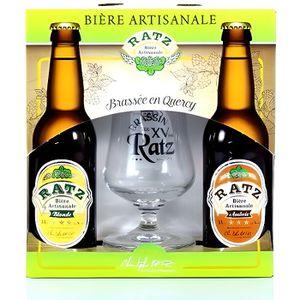 COFFRET CADEAU GOURMAND Coffret Bières + Verre : bières artisanales 2 x 33