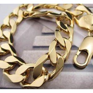 BRACELET - GOURMETTE Bracelet chaîne homme Or jaune 18 carats Rempli 12