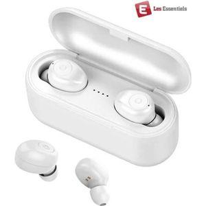 OREILLETTE BLUETOOTH ESS® EssPods Blanc ES5 Pro - Ecouteur bluetooth Lu