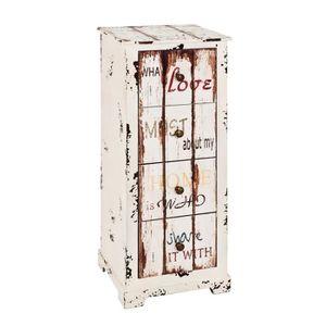 COMMODE DE CHAMBRE Commode en bois 4 tiroirs H76cm L30cm LOVELY CHEER