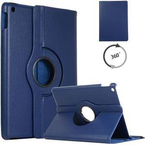 HOUSSE TABLETTE TACTILE Pour iPad 10.2 Coque Bleu foncé, avec 360 Support