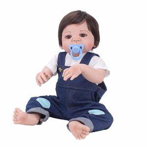 POUPÉE 55cm Full Body Silicone bébé Reborn poupée jouets