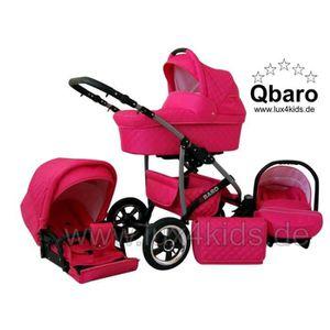 PACK VOYAGE Q-baro 3 en 1 Poussette Combinée avec les roues pi