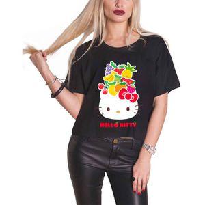 T-SHIRT Hello Kitty T Shirt Fruit logo nouveau officiel Fe
