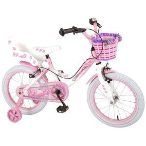 VÉLO ENFANT Vélo Enfant Fille 16 Pouces Rose Freins sur le Gui