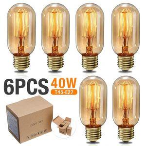 AMPOULE - LED 6x E27 40W Ampoule Edison Incandescent  Vintage Bl
