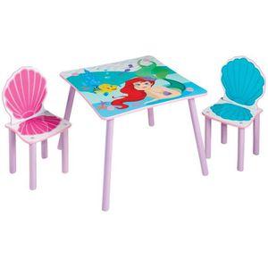 STRUCTURE DE LIT Disney Princesses Ariel - Ensemble table et 2 chai