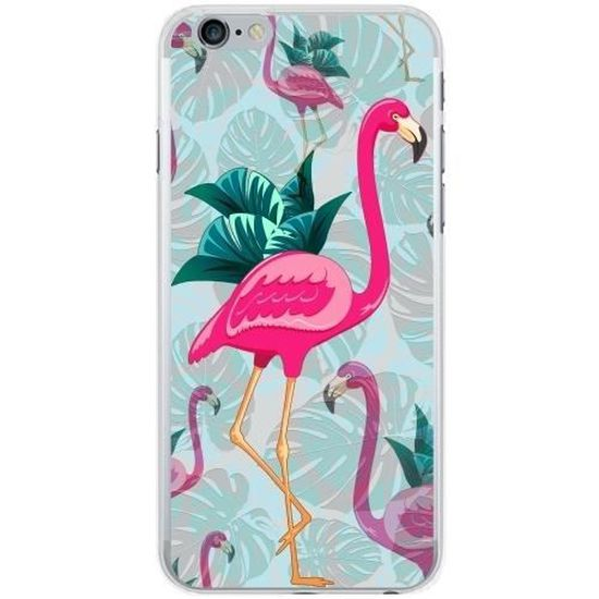 coque silicone pour iphone 6 6s flamants roses d