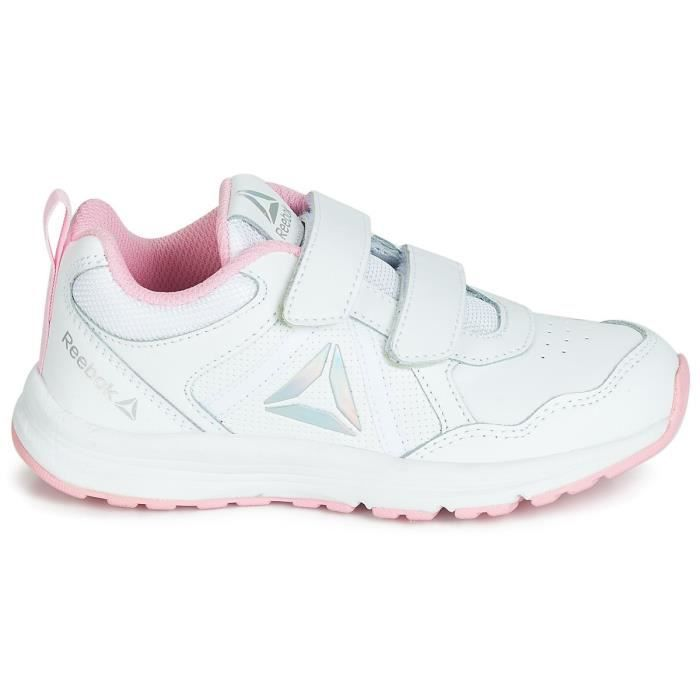 REEBOK Baskets Almatio 4.0 - Enfant - Blanc et rose