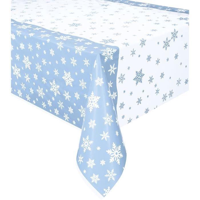 Nappes et accessoires Unique Party 51002 - Nappe - En plastique - Transparente - Motif flocons de neige - 213 x 137 cm, 109784