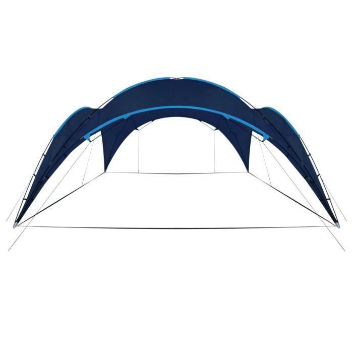 Arceau de tente de réception 450x450x265 cm Bleu foncé -QNQ