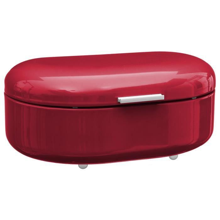 Boite à pain rétro métal rouge Autres Rouge