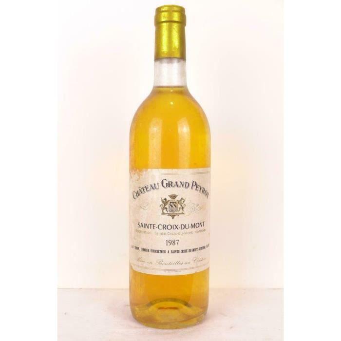 sainte-croix du mont château grand peyrot liquoreux 1987 - bordeaux