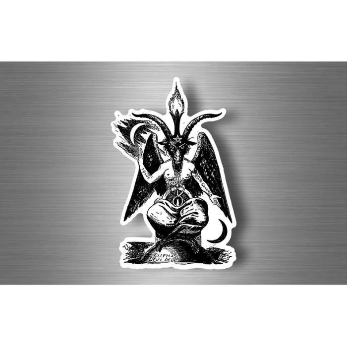 Autocollant sticker laptop macbook baphomet satan 666 diable franc macon