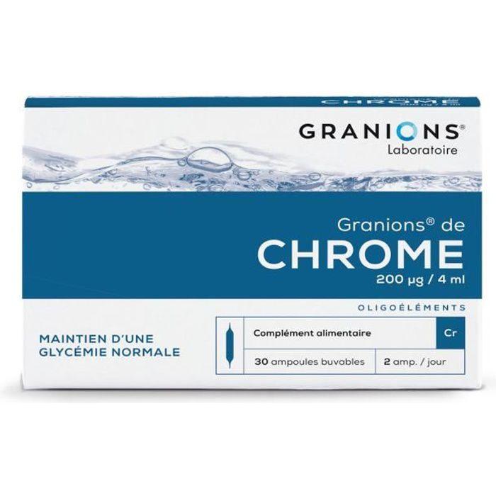 GRANIONS® DE CHROME 200 G/J (BTE 30 AMPOULES)