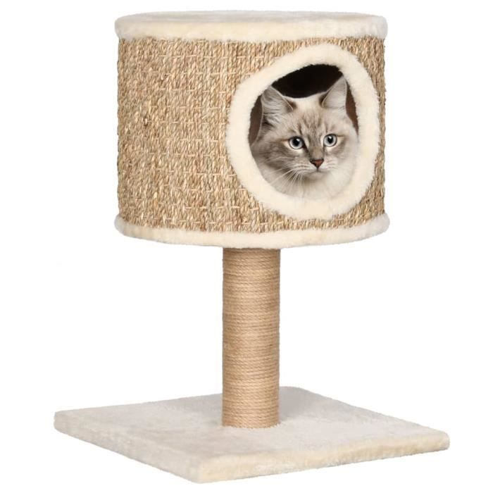 Bonne qualité - Arbre à chat design Le Magique - Meubles pour chats avec appartement et griffoir 52 cm Herbiers marins ®PHRJSO®
