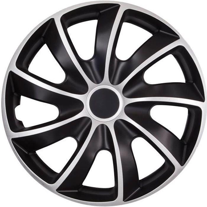 Enjoliveurs de roues Quad NRM bicolore CS 14 - argent noir