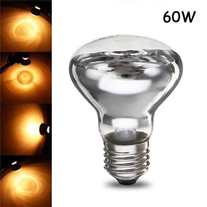 R63 Ampoule en verre pour reptile tortue serpent blanc chaud 220-240V AC 60W Gr93803