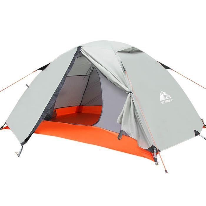 Tente de camping léger en aluminium, tente de sac à dos, sac à main portable double couche pour la randonnée
