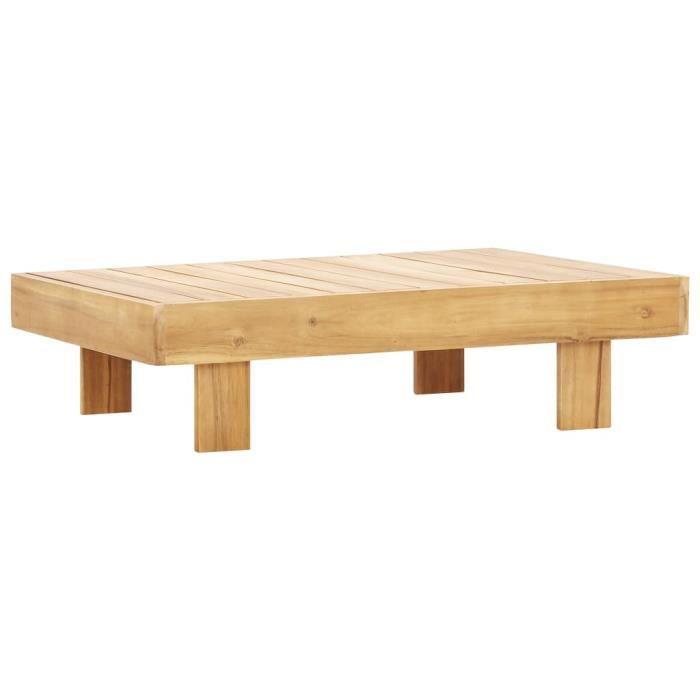 Table basse 100x60x25 cm Bois d'acacia solide -Y779