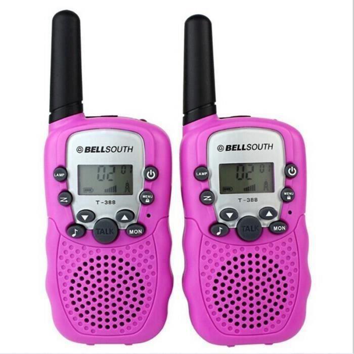 Rose Talkie-walkie 22 canaux push to talk écran LCD portée 3 à 5 km Walkie-talkie Jouets pour enfants MC22368