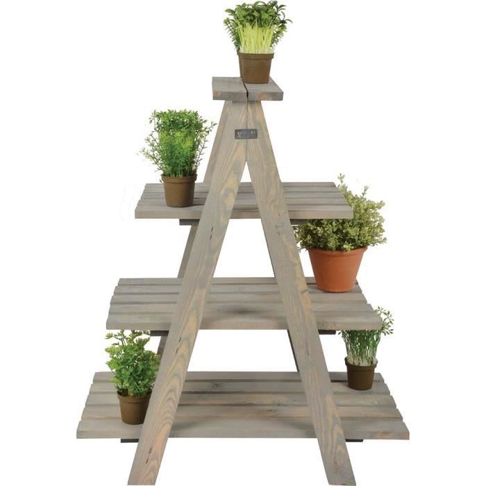 Esschert Design Échelle à plantes Triangulaire