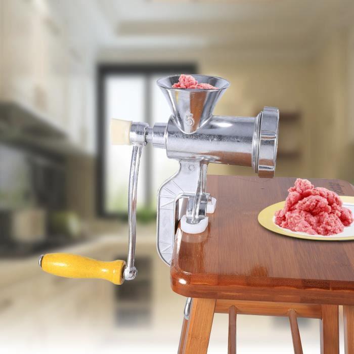 Hachoir à viande manuel hachoir à saucisse alimentaire Maker cuisine métal Stuffer outil (argent ) HACHOIR ELECTRIQUE HB013 HB010