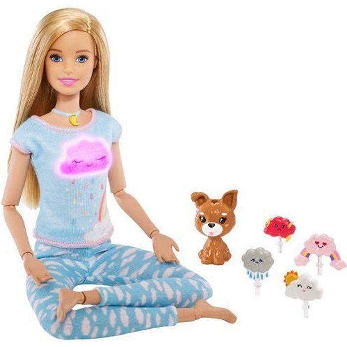 Barbie jeu de méditation et de bien-être pour les filles 6-pièces