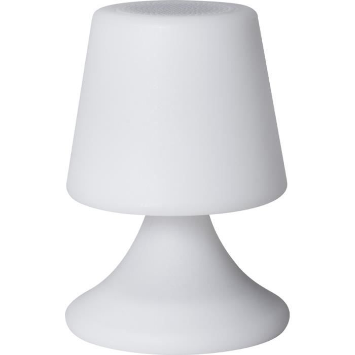 Lampe-enceinte blanche Bluetooth ColorLight