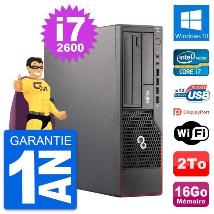 PC Fujitsu Esprimo E700 DT Intel i7-2600 RAM 16Go Disque Dur 2To Windows 10 Wifi